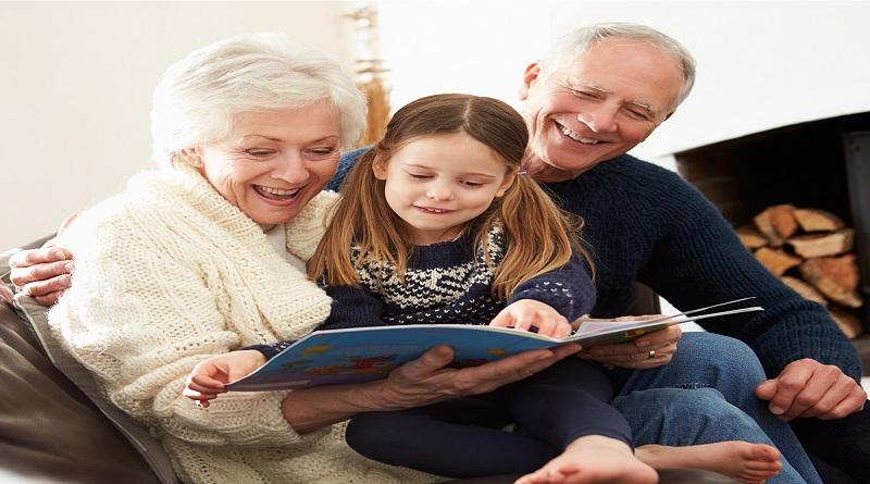 Story telling grandmother